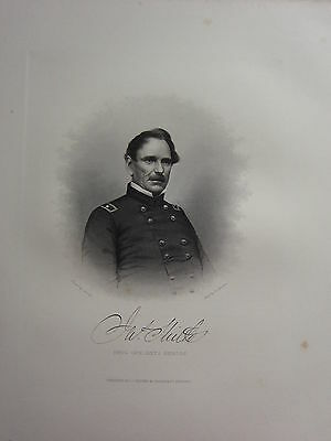 1863 Original American Civil War Print & Biog Brigadier-General James Shields