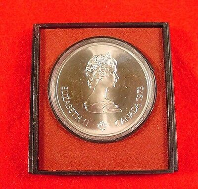 1973 Canadian 1976 Montreal Olympic~Skyline 10 Dollar Silver Coin Canada~Case