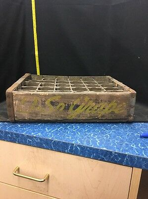 "1946 ""O So Grape"" Wood Soda Pop Crate Case for 30 bottles Good Condition"