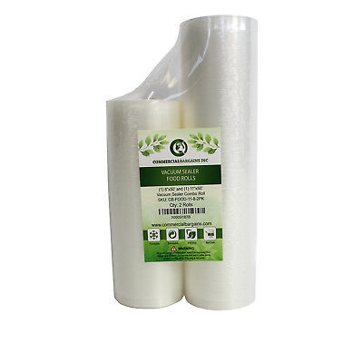 "11""x50' and 8""x50' Commercial Bargains Vacuum Sealer Saver Rolls"