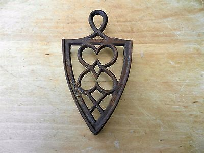 Antique Iron Trivet Early footed Trivet