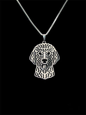 Labradoodle Pendant Necklace Silver ANIMAL RESCUE DONATION
