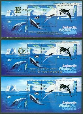 EDW1949SELL : AUSTRALIA ANTARCTICA 1995 Scott #97a, b & c VF, Mint NH. Cat $112.