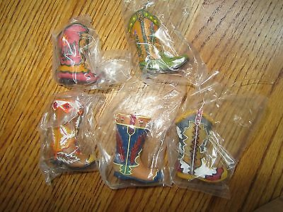 Cowboy Boots Christmas Ornaments-Set Of 5-All Different-New In Box!