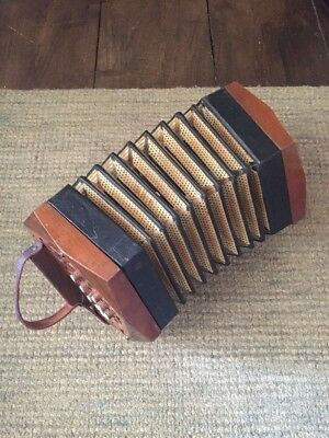 Accordion Vintage Old Wooden Antique