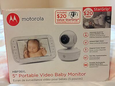 Motorola MBP36XL Portable Video Baby Monitor, 5-Inch Color Screen Portable NEW