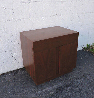 MCM Flame Mahogany Nightstand  End Side Table by American of Martinsville 7951