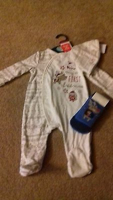 Brand New - Bundle Of Boys Christmas Clothes -0-3 Months -