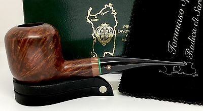 TOM SPANU Hand Made Briar Pipe - FREE STAND & TIN OF TABACCO - Cleaned/Sanitized