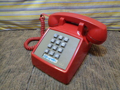 Estate*vintage Bell System At&t Western Electric Red Push Button Telephone Works