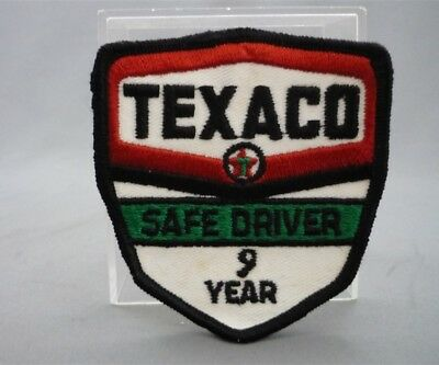 TEXACO Gas Station 9 Year SAFE DRIVER Embroidered Sew on Patch Fabric Badge