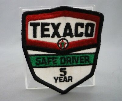 TEXACO Gas Station 5 Year SAFE DRIVER Embroidered Sew on Patch Fabric Badge