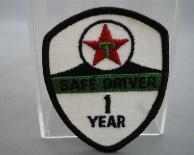 TEXACO Gas Station 1 Year SAFE DRIVER Embroidered Sew on Patch Fabric Badge