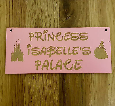 Personalised Childrens Kids Room Sign Bedroom Disney Princess Superhero Name