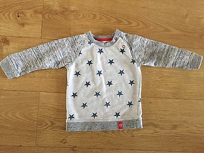 Boys 12-18 Months Grey With Blue Stars Jumper From George