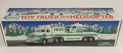 1995 Hess Toy Truck And Helicopter Vintage New In Box NIB