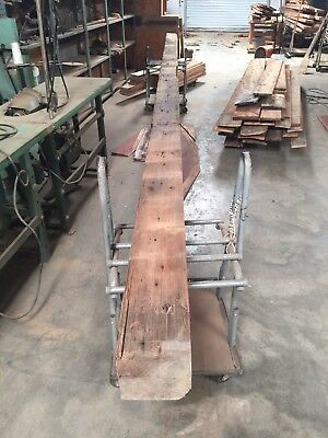 "Antique Reclaimed Heart Pine Beam 7"" X 7"" X 20'"
