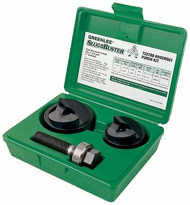"""GREENLEE 7237BB 32014 1-1/2 and 2"""" Slug Buster Manual Knockout Punch Set w/ Case"""