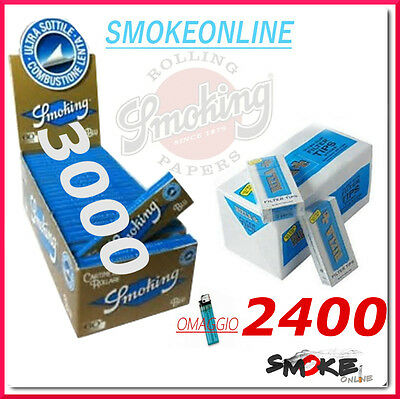 Cartine Smoking Blu Corte 3000 1 box e 2400  Filtri Ultraslim 5,7 Rizla 1 box