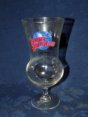 Planet Hollywood Chicago Beer Souvenir 20oz HURRICANE GLASS Black Stars