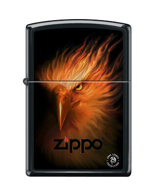 Zippo 8067, Anne Stokes-Firebird, Black Matte Finish Lighter