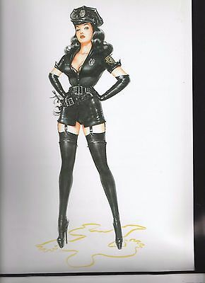 OLIVIA'S Bettie Page  Calendar page pin-up ( Officer Page)