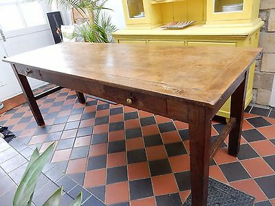 Antique French oak farmhouse refectory table