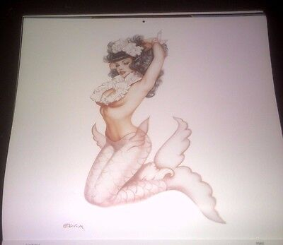 OLIVIA'S Bettie Page  Calendar page pin-up ( Mermaid )