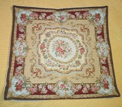 Fine Flemish Tapestry Cushion Cover 50 X 50 cm Made In Flanders Belgium