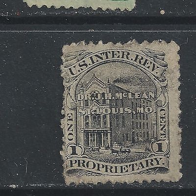 RS 170 e-MCLEAN'S 1  CENT PRIVATE DIE MEDICINE STAMP--39
