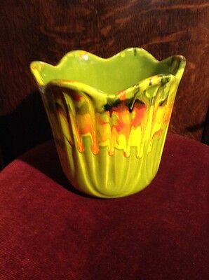 Vintage Art Pottery Flower Pot Mid Century Modern 1064 USA RARE