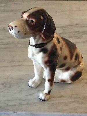 VINTAGE English Setter DOG FIGURINE Enesco Japan