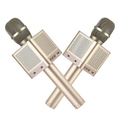2 Pics Portable Gold MicGeek Q10S Wireless USB Microphone High-tech DSP Chipset
