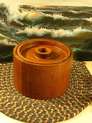 Mid Century Dansk Wooden Saving Box Bowl With Cover & box inside Cover Too
