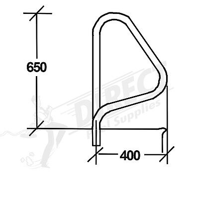 G5 Standard Grab Rails (SINGLE) Stainless Steel Hand Rail For Swimming Pools