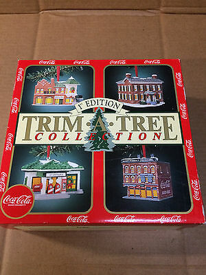 Coca Cola First Edition Trim a Tree Christmas Ornaments, Vintage 1991