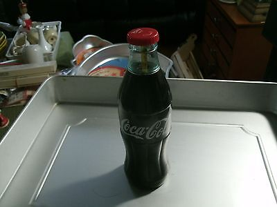 "9#   Vintage  Coca Cola  Flashlight Resembles Classic Coke Bottle 7 1/2"" Works!"