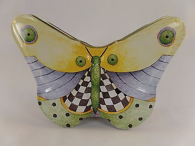 Debbie Mumm Decorative Butterfly Tin Container - Tin Box Company
