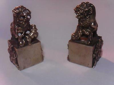 Old Miao Silver Republic of China Two Year of Foo Dog Beast Seal Stamp Signet