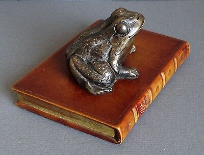 "Orig MR.TOAD Handmade Bronzed Faux Antique Book ""ORIGINAL BOOKWORKS"" Paperweight"