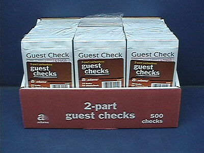 Adams SA108A 2 Part Carbonless Guest Checks, 60 Books / 50 Checks per Book