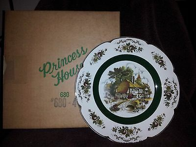 Ascot Ddecorative Plate VINTAGE by Wood and Sons England Alpine White Ironstone