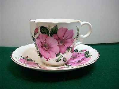 Vintage  Fine Bone China Cup & Saucer With Gilded Edges...