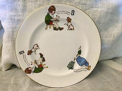 Vintage Allerton's Ltd England Bone China Children's Nursery Rhyme Plate