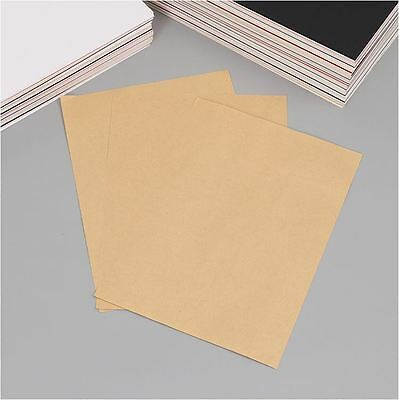 25 X 150GSM Kraft Brown Natural Paper Sheet Wedding Invitation Card Menu