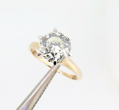 .Vintage 1.54ct Brilliant Cut VS2 Diamond 18k gold Solitaire Ring Val $22610