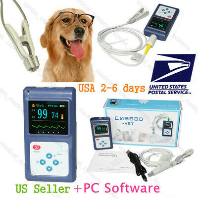 Dog/Cat Pulse Oximeter Tongue/Ear Blood Oxygen Meter Veterinary SpO2 PR Monitor