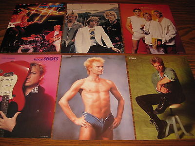 The Police Clippings Young 80s Sting Andy Summers Stewart Copeland