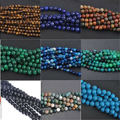 Crafts Natural Charms Jade Natural Gemstone Stone Loose Spacer Beads 4/6/8/10mm