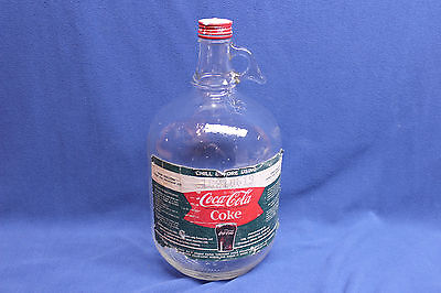 Vintage Coca-Cola Coke One Gallon Fountain Syrup Glass Jug Bottle